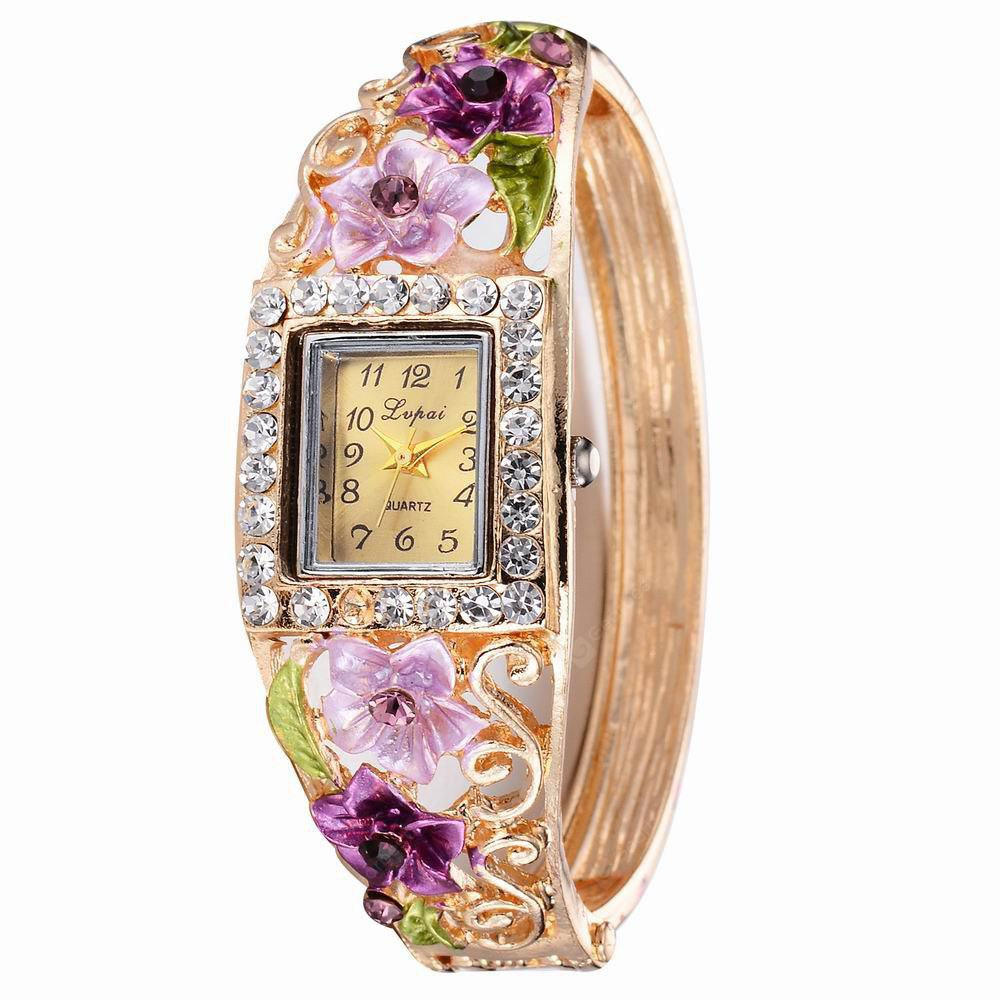 Lvpai P055 Women Unique Flowers Bangle Quartz Watches