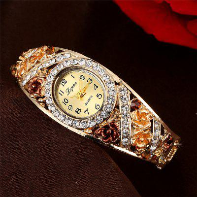 Lvpai P058 Women Alloy Bangle Bracelet Jewelry Watch with FlowersWomens Watches<br>Lvpai P058 Women Alloy Bangle Bracelet Jewelry Watch with Flowers<br><br>Band material: Alloys<br>Band size: 18 x 0.7 cm<br>Case material: Alloy<br>Dial size: 1.7 x 2 x 0.8 cm<br>Display type: Analog<br>Movement type: Quartz watch<br>Package Contents: 1 x Watch<br>Package size (L x W x H): 9.00 x 8.50 x 3.00 cm / 3.54 x 3.35 x 1.18 inches<br>Package weight: 0.0390 kg<br>Product size (L x W x H): 18.00 x 1.70 x 0.80 cm / 7.09 x 0.67 x 0.31 inches<br>Product weight: 0.0370 kg<br>Shape of the dial: Elliptical<br>Watch mirror: Mineral glass<br>Watch style: Wristband Style, Fashion, Retro, Cool, Lovely, Childlike, Bracelet Style, Jewellery, Casual<br>Watches categories: Women,Female table<br>Water resistance: No