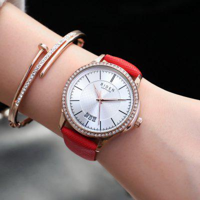BIDEN Popular Crystal Women Quartz Leather Strap Ladies Lovers WatchWomens Watches<br>BIDEN Popular Crystal Women Quartz Leather Strap Ladies Lovers Watch<br><br>Available Color: Black,White,Red,Blue,Brown<br>Band material: Leather<br>Case material: Alloy<br>Clasp type: Pin buckle<br>Display type: Analog<br>Movement type: Quartz watch<br>Package Contents: 1 x Watch<br>Package size (L x W x H): 26.50 x 4.00 x 1.20 cm / 10.43 x 1.57 x 0.47 inches<br>Package weight: 0.6000 kg<br>Product size (L x W x H): 34.50 x 3.80 x 1.00 cm / 13.58 x 1.5 x 0.39 inches<br>Product weight: 0.5000 kg<br>Shape of the dial: Round<br>Special features: Day<br>Watch mirror: Mineral glass<br>Watch style: Casual, Fashion, Classic, Business, Childlike<br>Watches categories: Women,Female table<br>Water resistance: Life water resistant