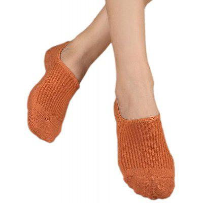 Women's 5 Pairs Sneakers Socks Candy Color Anti-Slip Breathable Socks