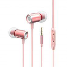 Cable Metal In-ear Stereo Bass Earphone With Microphone and Control For Samsung Xiaomi Huawei