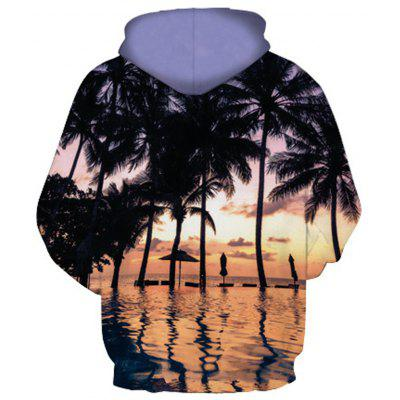 Coconut Tree Loose Pattern Hooded HoodieMens Hoodies &amp; Sweatshirts<br>Coconut Tree Loose Pattern Hooded Hoodie<br><br>Fabric Type: Broadcloth<br>Material: Cotton<br>Package Contents: 1 x Hoodie<br>Shirt Length: Regular<br>Sleeve Length: Full<br>Style: Fashion<br>Weight: 0.3900kg