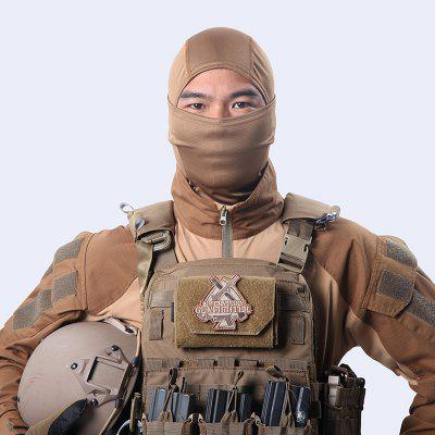 Pure Color Ninja Dust Sunscreen Dry and Breathable Head Cover with Nylon Anti Terror Mask