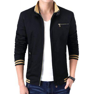 Mans Stand Collar Cotton JacketMens Jackets &amp; Coats<br>Mans Stand Collar Cotton Jacket<br><br>Clothes Type: Jackets<br>Collar: Turn-down Collar<br>Material: Cotton<br>Package Contents: 1 x Jacket<br>Season: Spring, Summer, Fall, Winter<br>Shirt Length: Regular<br>Sleeve Length: Long Sleeves<br>Style: Casual<br>Weight: 0.8000kg
