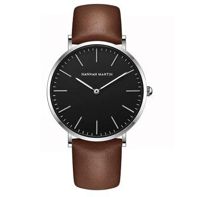 Men's Simple British Wind Thin Leather Waterproof Simple Business Fashion Watch