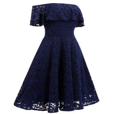 Women  Vintage Lace  Off Shoulder  Long Sleeve Casual Evening Party  DressesWomens Dresses<br>Women  Vintage Lace  Off Shoulder  Long Sleeve Casual Evening Party  Dresses<br><br>Dresses Length: Knee-Length<br>Elasticity: Elastic<br>Embellishment: Lace<br>Fabric Type: Dobby<br>Material: Polyester<br>Neckline: Slash Neck<br>Package Contents: 1 x Dress<br>Pattern Type: Floral<br>Season: Fall, Spring<br>Silhouette: A-Line<br>Sleeve Length: Sleeveless<br>Sleeve Type: Off The Shoulder<br>Style: Elegant<br>Waist: Natural<br>Weight: 0.3500kg<br>With Belt: No