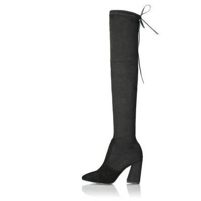 2018 New High Heel Suede BootsWomens Boots<br>2018 New High Heel Suede Boots<br><br>Boot Height: Over-the-Knee<br>Boot Tube Circumference: 42<br>Boot Tube Height: 52<br>Boot Type: Fashion Boots<br>Closure Type: Lace-Up<br>Gender: For Women<br>Heel Height: 9.5<br>Heel Height Range: High(3-3.99)<br>Heel Type: Chunky Heel<br>Outsole Material: Rubber<br>Package Contents: 1 x shoes?pair )<br>Pattern Type: Solid<br>Season: Winter, Spring/Fall<br>Shoe Width: Medium(B/M)<br>Toe Shape: Pointed Toe<br>Upper Material: Flock<br>Weight: 2.0280kg