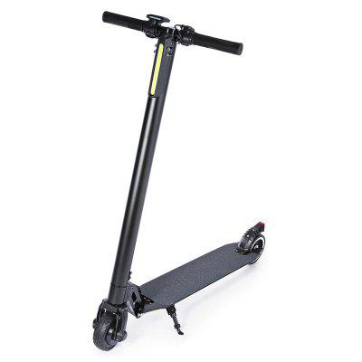 Buy 5 inch solid tire folding electric scooter 10.4AH battery capacity ultra long battery aluminum alloy material. BLACK for $281.39 in GearBest store