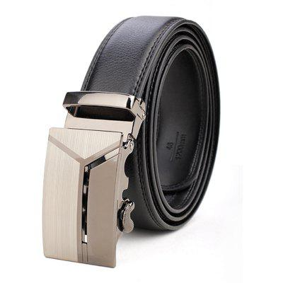Men's Business Casual Button Leather Belt