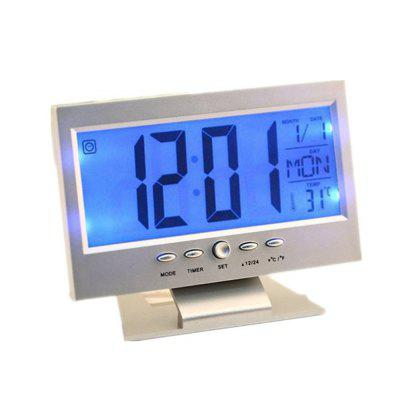Acoustic Sensing Background Light Calendar Clock Temperature Meter