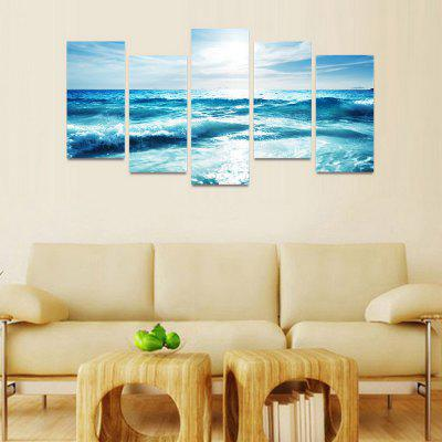 Mailingart Canvas Wall Art Canvas Prints FIV024Painting<br>Mailingart Canvas Wall Art Canvas Prints FIV024<br><br>Craft: Print<br>Form: Five Panels<br>Material: Canvas<br>Package Contents: 5 x Print<br>Package size (L x W x H): 82.00 x 32.00 x 12.00 cm / 32.28 x 12.6 x 4.72 inches<br>Package weight: 1.8000 kg<br>Painting: Include Inner Frame<br>Shape: Horizontal Panoramic<br>Style: Natural<br>Subjects: Seascape<br>Suitable Space: Bedroom,Boys Room,Cafes,Corridor,Dining Room,Girls Room,Hotel,Kids Room,Kitchen,Living Room,Office,Pathway,Study Room / Office<br>??: 30x60cmx4pcs + 30x80cmx1pc<br>??: 1.8Kg
