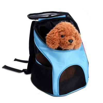 Buy Cats Dogs Carrier Travel Space Capsule Pet Backpack BLUE for $66.22 in GearBest store