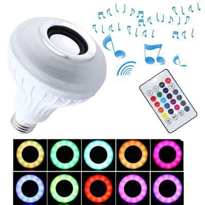 1PC 4 Generations Smart Bluetooth 4.0 Music Speaker Lamp LED Bulb E27 Intelligent Light Holiday Party Decoration Gift