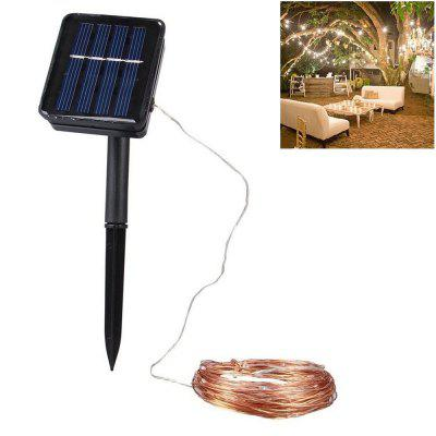 1 PC 20M Solar Wire Drut Miedziany 8MODES LED Fairy String Wodoodporny Home Yard Christmas Holiday Gareden Decoration