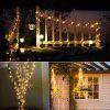 1PC 20M Solar Copper Wire String Light 8MODES LED Fairy String Waterproof Home Yard Christmas Holiday Gareden Decoration - WARM WHITE