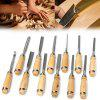 Wood Carving Knife Chisel Set 12 Pcs Sharp Woodworking Tools with Carrying Case Great for Beginners - WOOD