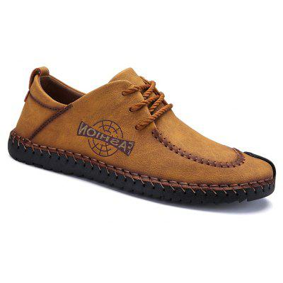 ZEACAVA Men's Spring Large Size Microfiber Leather Shoes Casual