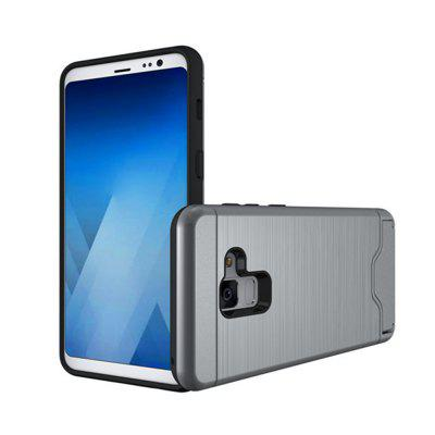 Cover Case for Samsung Galaxy A8 2018 Hybrid Armor Soft Silicone TPU+PC Rubber Card Slot Kickstand BackSamsung A Series<br>Cover Case for Samsung Galaxy A8 2018 Hybrid Armor Soft Silicone TPU+PC Rubber Card Slot Kickstand Back<br><br>Compatible Model: Samsung Galaxy A8 2018<br>Features: Back Cover, Full Body Cases, Cases with Stand, With Credit Card Holder, Button Protector, Anti-knock<br>Material: PC, TPU<br>Package Contents: 1 x Phone Case<br>Package size (L x W x H): 20.00 x 10.00 x 1.50 cm / 7.87 x 3.94 x 0.59 inches<br>Package weight: 0.0600 kg<br>Product weight: 0.0560 kg<br>Style: Solid Color, Silk Texture, Cool