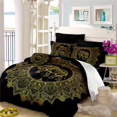 Elephant Totem Series Three Pieces and Four Pieces Bedding Set of AS23