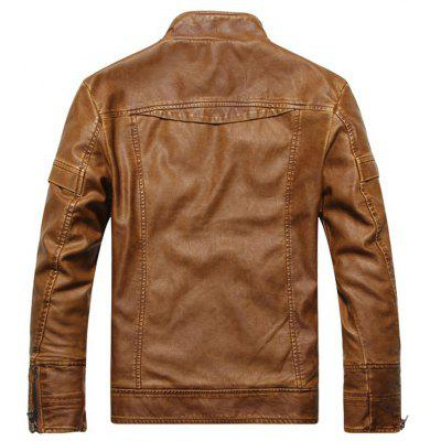 Mens Autumn and Winter Collar Motorcycle Leather JacketMens Jackets &amp; Coats<br>Mens Autumn and Winter Collar Motorcycle Leather Jacket<br><br>Clothes Type: Leather &amp; Suede<br>Collar: Stand Collar<br>Material: Faux Leather<br>Package Contents: 1XJacket<br>Season: Fall<br>Shirt Length: Regular<br>Sleeve Length: Long Sleeves<br>Style: Fashion<br>Weight: 0.5000kg