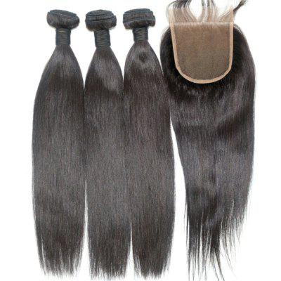 Silky Straight Natural Color Brazilian Human Virgin Hair Weave 3pcs with One Piece Lace ClosureHair Weaves<br>Silky Straight Natural Color Brazilian Human Virgin Hair Weave 3pcs with One Piece Lace Closure<br><br>Can Be Permed: Yes<br>Chemical Processing: None<br>Color: Natural Black<br>Color Type: Pure Color<br>Hair Grade: 6A+ 100% Unprocessed Virgin Hair<br>Hair Quality: Virgin Hair<br>Hair Weft: Machine Double Weft<br>Material: Human Hair<br>Package Contents(pcs): 3 x Hair Weave, 1 x Lace Closure<br>Package size (L x W x H): 20.00 x 10.00 x 5.00 cm / 7.87 x 3.94 x 1.97 inches<br>Package weight: 0.4000 kg<br>Source: Brazilian Hair<br>Style: Straight<br>Type: Hair Weft with Closure