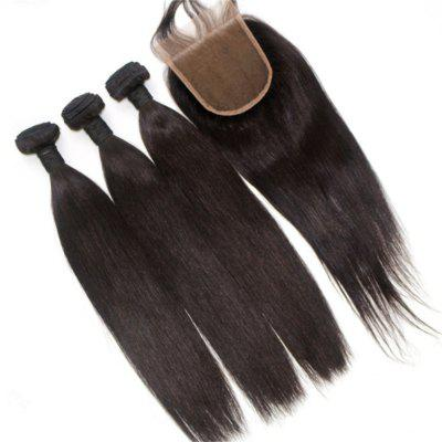 Silky Straight Natural Color 100 Percent Brazilian Virgin Hair Weave 4pcs with One Piece Lace ClosureHair Weaves<br>Silky Straight Natural Color 100 Percent Brazilian Virgin Hair Weave 4pcs with One Piece Lace Closure<br><br>Can Be Permed: Yes<br>Chemical Processing: None<br>Color: Natural Black<br>Color Type: Pure Color<br>Hair Grade: 6A+ 100% Unprocessed Virgin Hair<br>Hair Quality: Virgin Hair<br>Hair Weft: Machine Double Weft<br>Material: Human Hair<br>Package Contents(pcs): 4 x Hair Weave, 1 x Lace Closure<br>Package size (L x W x H): 20.00 x 10.00 x 5.00 cm / 7.87 x 3.94 x 1.97 inches<br>Package weight: 0.5000 kg<br>Source: Brazilian Hair<br>Style: Straight<br>Type: Hair Weft with Closure