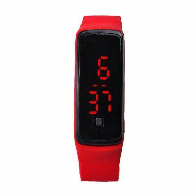 V5 Fashion LED Digital Watch Children Silicone WristwatchLED Watches<br>V5 Fashion LED Digital Watch Children Silicone Wristwatch<br><br>Band material: Silicone<br>Case material: Plastic<br>Clasp type: Hidden clasp<br>Dial size: 2.1 x 5 x 1.2cm<br>Display type: Digital<br>Hour formats: 24 Hour<br>Movement type: Digital watch<br>Package Contents: 1 x Watch<br>Package size (L x W x H): 23.00 x 2.20 x 1.50 cm / 9.06 x 0.87 x 0.59 inches<br>Package weight: 0.0280 kg<br>People: Male table,Female table,Children table<br>Product size (L x W x H): 23.00 x 2.10 x 1.20 cm / 9.06 x 0.83 x 0.47 inches<br>Product weight: 0.0250 kg<br>Shape of the dial: Rectangle<br>Special features: Date<br>Watch mirror: Acrylic<br>Watch style: Fashion, Casual, Classic, Lovely, Jelly<br>Water resistance: Life water resistant<br>Wearable length: 16 - 22cm
