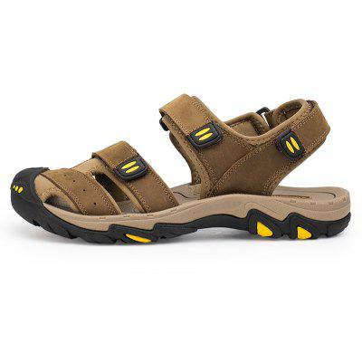 Antiskid MD Rubber Sole for Men Casual Outdoor Leather SandalsMens Sandals<br>Antiskid MD Rubber Sole for Men Casual Outdoor Leather Sandals<br><br>Available Size: 40 41 42 43 44 45 46 47 48<br>Closure Type: Hook / Loop<br>Embellishment: None<br>Gender: For Men<br>Heel Hight: 2cm<br>Occasion: Casual<br>Outsole Material: Rubber<br>Package Contents: 1 xshoes(pair)<br>Pattern Type: Solid<br>Sandals Style: Gladiator<br>Style: Sport<br>Upper Material: Cow Split<br>Weight: 1.9800kg
