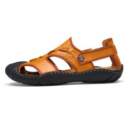Men Casual Rome Leather SandalsMens Sandals<br>Men Casual Rome Leather Sandals<br><br>Available Size: 41 42 43 44<br>Closure Type: Slip-On<br>Embellishment: Ruched<br>Gender: For Men<br>Heel Hight: 2cm<br>Occasion: Casual<br>Outsole Material: Rubber<br>Package Contents: 1 xshoes(pair)<br>Pattern Type: Solid<br>Sandals Style: Gladiator<br>Style: Sport<br>Upper Material: Cow Split<br>Weight: 1.9800kg