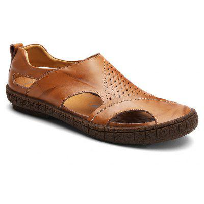 Leather Rubber Sole for Men Casual Sandals
