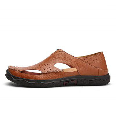 Men Fashion Casual Leather SandalsMens Sandals<br>Men Fashion Casual Leather Sandals<br><br>Available Size: 41 42 43 44<br>Closure Type: Slip-On<br>Embellishment: None<br>Gender: For Men<br>Outsole Material: Rubber<br>Package Contents: 1 xshoes(pair)<br>Pattern Type: Solid<br>Season: Spring/Fall<br>Toe Shape: Round Toe<br>Toe Style: Closed Toe<br>Upper Material: Cow Split<br>Weight: 2.0400kg