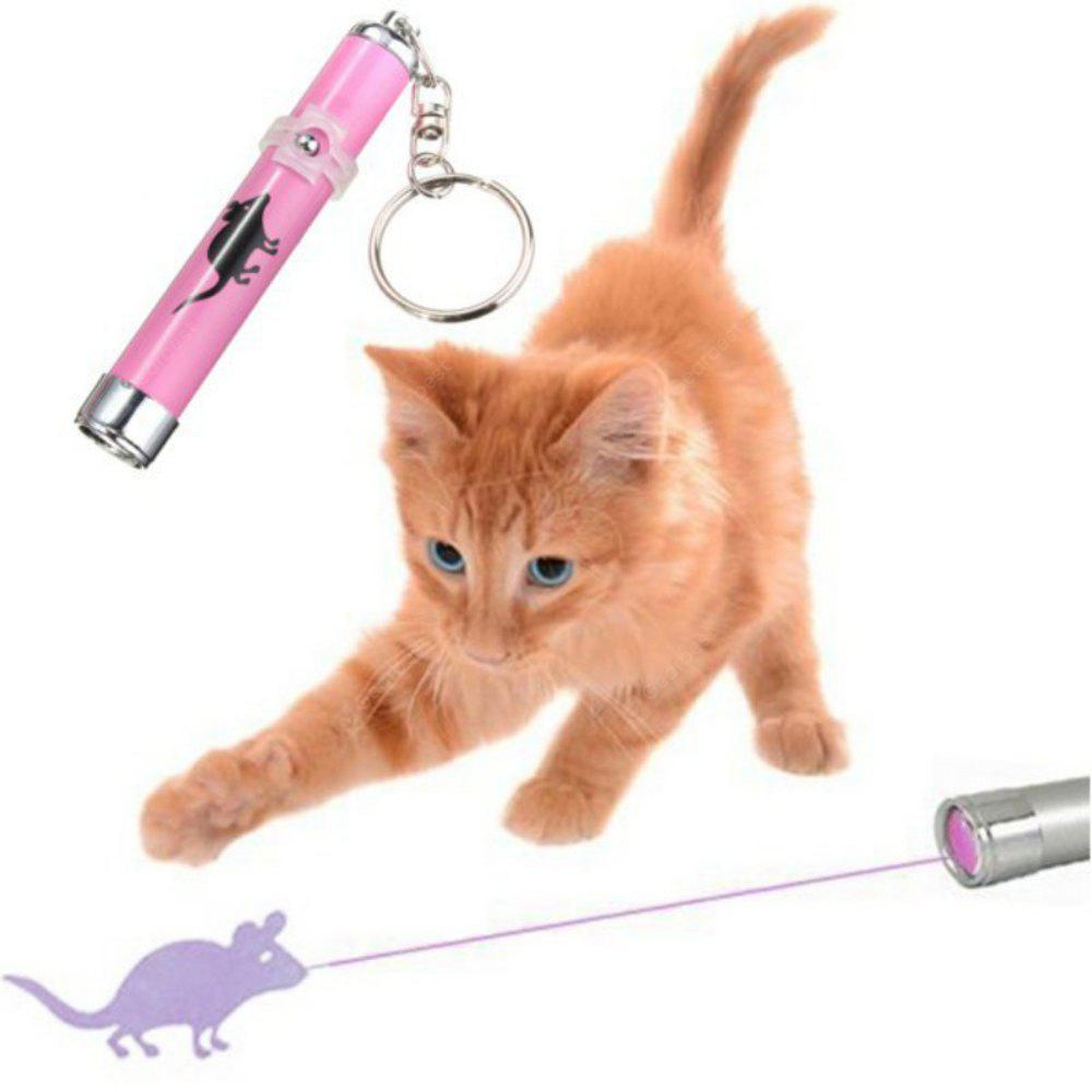 Pet Cat Toys LED Laser Pointer Light Pen With Bright Animation Mouse Shadow