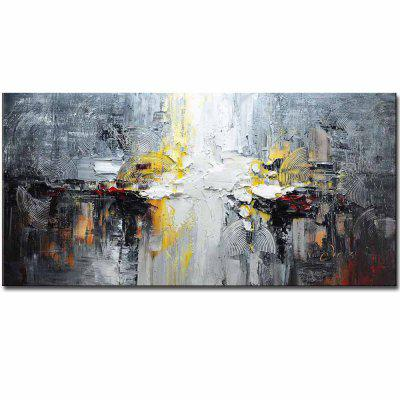Buy GREY High Quality Hand Painted Abstract Picture Oil Canvas Painting Living Room Home Wall Decoration No Framed for $68.78 in GearBest store
