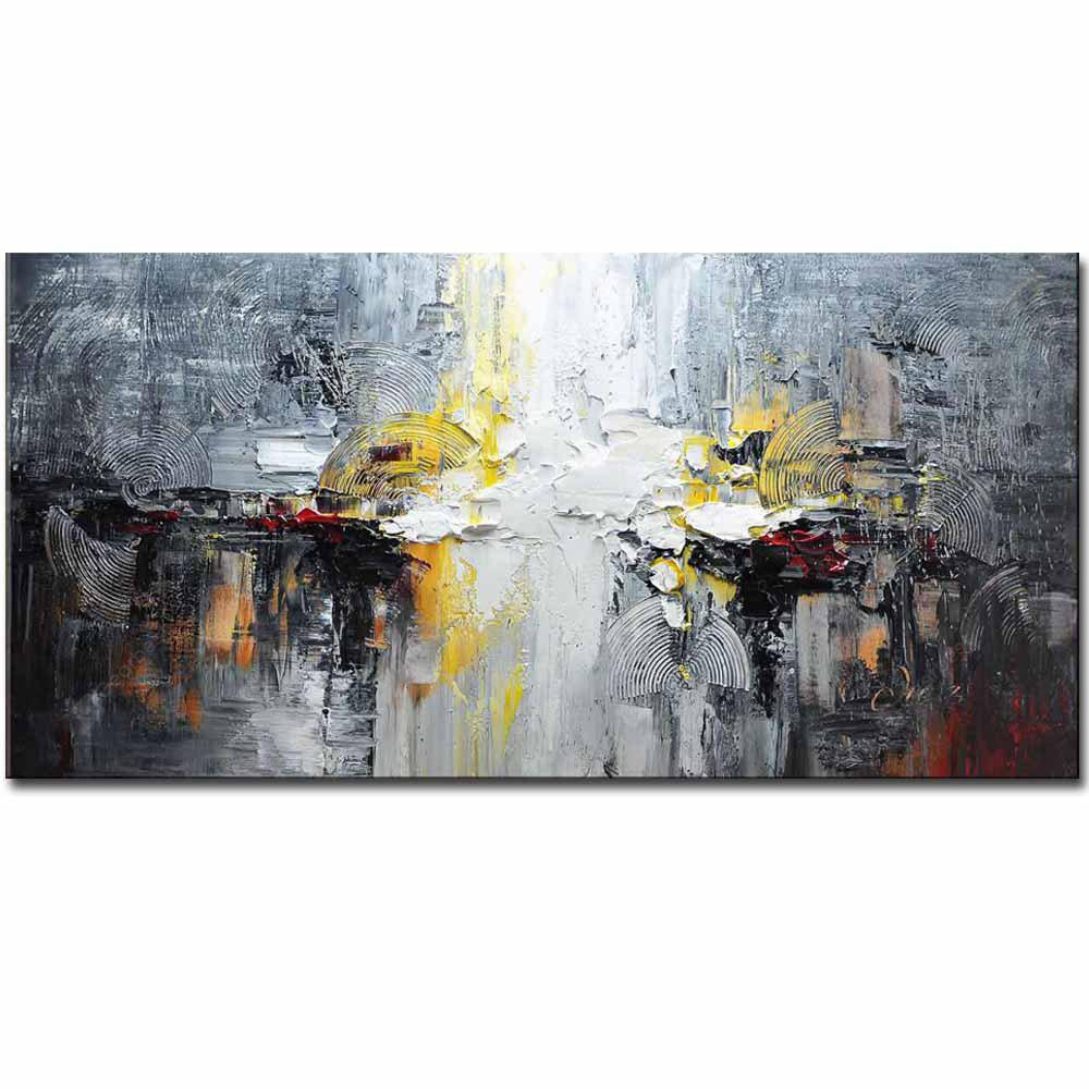 GREY High Quality Hand Painted Abstract Picture Oil Canvas Painting Living Room Home Wall Decoration No Framed