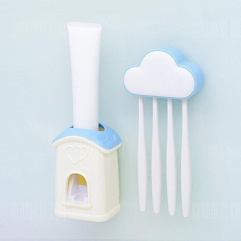 Cloud Cottage Creative Automatic Toothpaste Cartoon Toothbrush Holder Set BLUE