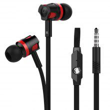 Noodle Line Heavy Bass 3.5mm In-Ear Headphones for iPhone Xiaomi SamSung