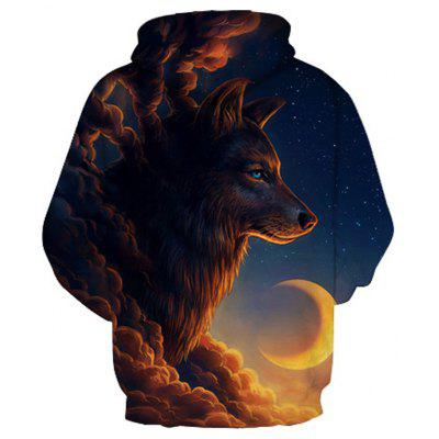 3D Painted Wolf Print HoodieMens Hoodies &amp; Sweatshirts<br>3D Painted Wolf Print Hoodie<br><br>Fabric Type: Broadcloth<br>Material: Cotton<br>Package Contents: 1 x Hoodie<br>Shirt Length: Regular<br>Sleeve Length: Full<br>Style: Fashion<br>Weight: 0.4800kg