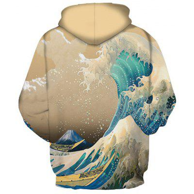 Wave Pattern Digital Printing Casual HoodieMens Hoodies &amp; Sweatshirts<br>Wave Pattern Digital Printing Casual Hoodie<br><br>Material: Cotton<br>Package Contents: 1 x Hoodie<br>Shirt Length: Regular<br>Sleeve Length: Full<br>Style: Fashion<br>Weight: 0.3900kg