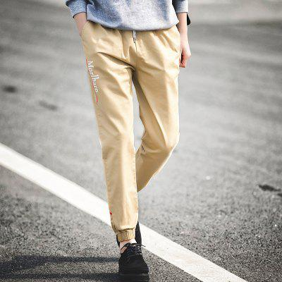 New Letter Feet Nine Pants MenMens Pants<br>New Letter Feet Nine Pants Men<br><br>Closure Type: Elastic Waist<br>Elasticity: Micro-elastic<br>Fabric Type: Broadcloth<br>Fit Type: Loose<br>Length: Ninth<br>Material: Cotton, Spandex<br>Package Contents: 1xPants<br>Package size (L x W x H): 1.00 x 1.00 x 1.00 cm / 0.39 x 0.39 x 0.39 inches<br>Package weight: 0.5000 kg<br>Pant Style: Pencil Pants<br>Pattern Type: Letter<br>Style: Casual<br>Waist Type: Mid