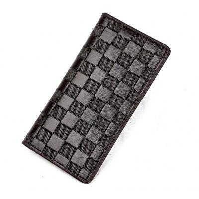 Men's Wallet Plaid Fashion Durable All Match Patchwork Color Purse