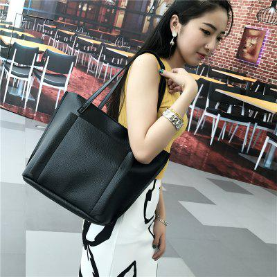 Four-piece  Large Capacity Shoulder BagHandbags<br>Four-piece  Large Capacity Shoulder Bag<br><br>Closure Type: Open<br>Embellishment: None<br>Exterior: Solid Bag<br>Gender: For Women<br>Handbag Type: Other<br>Lining Material: PU<br>Main Material: PU<br>Number of Handles / Straps: Two<br>Package Contents: 4xbag<br>Package size (L x W x H): 40.00 x 16.00 x 29.00 cm / 15.75 x 6.3 x 11.42 inches<br>Package weight: 0.4000 kg<br>Pattern Type: Others<br>Product size (L x W x H): 38.00 x 15.00 x 28.00 cm / 14.96 x 5.91 x 11.02 inches<br>Shape: Shell<br>Style: Casual