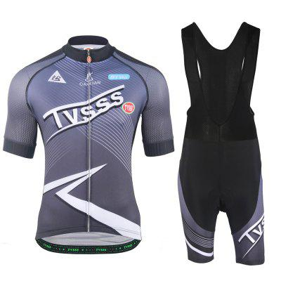 TVSSS Mens Summer Short Sleeves Cycling Jerseys Lightning Pattern Jerseys Sporting Clothes Set Bicycle Clothing