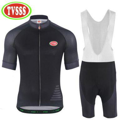 TVSSS New Men Summer Short Sleeves Cycling Jerseys Black Jerseys Sporting Clothes Set Bicycle Clothing