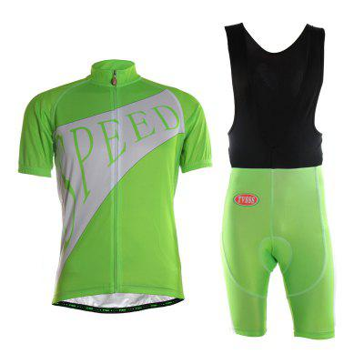 TVSSS New Design Fluorescent Green Men Summer Breathable Bicycle Riding Suit