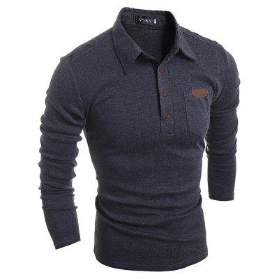 Mens Long-Sleeved Lapel T-ShirtMens Long Sleeves Tees<br>Mens Long-Sleeved Lapel T-Shirt<br><br>Collar: Turn-down Collar<br>Material: Cotton<br>Package Contents: 1 x T-shirt<br>Pattern Type: Print<br>Sleeve Length: Full<br>Style: Casual<br>Weight: 0.3000kg