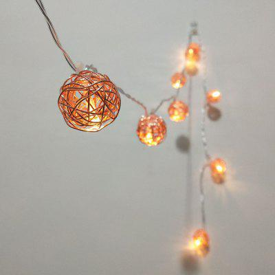 rose gold iron wire ball string lights fairy led home. Black Bedroom Furniture Sets. Home Design Ideas