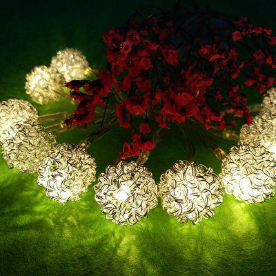 Iron Wire Multi Line Ball String Lights Fairy LED Home Decor Light Home Garden of Battery Powered 1.6M 10 LED