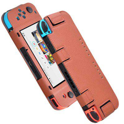 6.2 Inch Handheld Protective Leather Cover Magic Paste Case for Nintendo Switch NX/NS