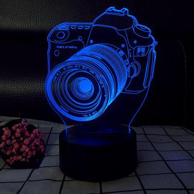 3D Camera USB Touch And Control 7 Colour Night Light Bedroom Bedside LED Lamp