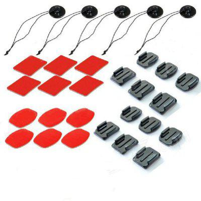 29 in 1 Action Sports Accessories Stickers Kit for GoPro Hero 6/5S/5/4/3+/3/2/1